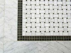 "mosaic tile ""rug"" in master bath - Google Search"