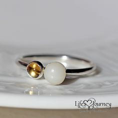Breastmilk pearl ring