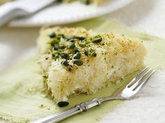 Rezept: Türkischer Engelshaar-Kuchen mit Pistazien und Frischkäse