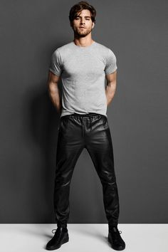 Fall New Arrivals: Leather Cadmus Jogger in Black. #JBRAND