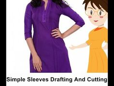 Simple Sleeves Drafting And Cutting | English - Tailoring With Usha - YouTube
