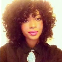 Kimberly // 3C Natural Hair Style Icon | Black Girl with Long Hair