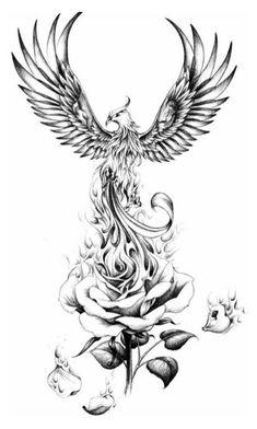 Phoenix Tattoo Sleeve, Phoenix Tattoo Feminine, Small Phoenix Tattoos, Phoenix Tattoo Design, Japanese Phoenix Tattoo, Phoenix Back Tattoo, Phoenix Design, Dope Tattoos, Skull Tattoos