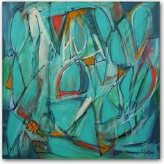 "ABSTRACT ART THIRTEEN, 36"" x 36"" painting on canvas from ARTBYLT."