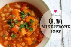 Deliciously warm and comforting minestrone soup. Tasty, healthy and super quick and easy to make. Perfect for cooler weather and great family favourite meal Baby Food Recipes, Soup Recipes, Healthy Recipes, Vegetarian Recipes Thermomix, Savoury Recipes, Healthy Soup, Recipies, Thermomix Soup, Veg Soup