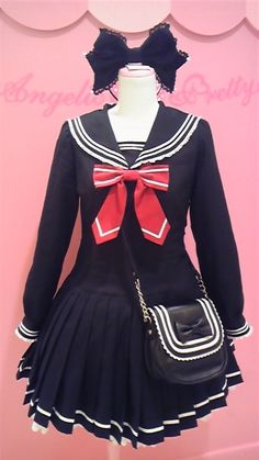 Cosplay Japanese School Girl I just wanna wear this and be cute lol - Kawaii Fashion, Lolita Fashion, Cute Fashion, Asian Fashion, Estilo Lolita, Japanese Uniform, Japanese Outfits, Visual Kei, Mode Kawaii
