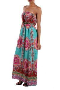 MINT & FUCHSIA MAXI DRESS  $44