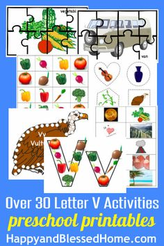 Learn to Read Letter V Activity Pack Letter V Crafts, Puzzle Crafts, Abc Crafts, Preschool Letters, Free Preschool, Preschool Printables, Preschool Activities, Homeschool Worksheets, Homeschool Kindergarten