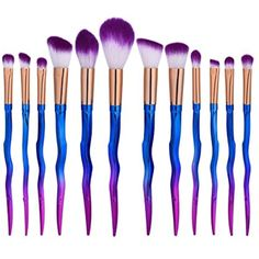 Owill Blending Pencil Foundation Eye Shadow Makeup Brushes Wave Pattern Toiletry Tools (Multicolor) >>> See this great product. (This is an affiliate link) Contour With Eyeshadow, Eyeshadow Brushes, Eyeshadow Makeup, It Cosmetics Concealer, Brush Sets, Wave Pattern, Makeup Brush Set, Foundation, Tools