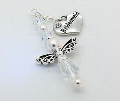 Bridesmaid Guardian Angel Car Charm/Rear View by CarCharmShop