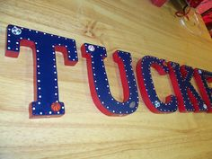 Hand Painted Wooden Letters for Nursery Decor, Kids, Gifts, & Home. $8.00, via Etsy.