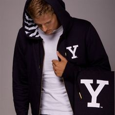 This men's Yale hoodie is too cool for school. No need to be Yalie to wear this out and about.