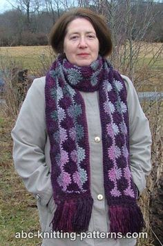 ABC Knitting Patterns - Dusk and Dawn Scarf  (Crochet; free pattern)
