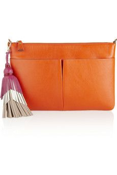 Anya Hindmarch Nevis leather clutch | NET-A-PORTER
