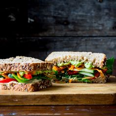 Dec 2019 - This mile-high vegetable and hummus sandwich makes the perfect heart-healthy vegetarian lunch to go. Mix it up with different flavors of hummus and different types of vegetables depending on your mood. Healthy Food Recipes, Lunch Recipes, Diet Recipes, Healthy Snacks, Vegan Recipes, Healthy Eating, Sandwich Recipes, Healthy Protein, Healthy Dishes