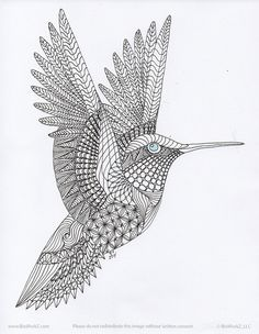 Zentangle 370 - Oration Creation - Hummingbird