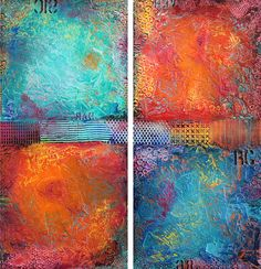 60x60 ORIGINAL Huge Abstract Painting Textured door FariasFineArt