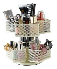 Still need one in red to hold art supplies ;-)  Take a look at this Cream Makeup Carousel  by Nifty Home Products on #zulily today!
