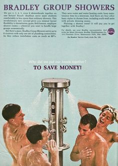 Group showering saves you money!