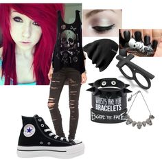 I love her hair , and I would totally wear this to a concert or something!!!!!!!! Or maybe just as casual