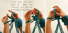Arm Knitting How-To Photo Tutorial // Part 2: Knitting - Flax & Twine