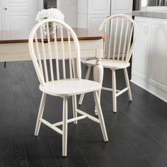 Noble House Countryside High Back White Spindle Dining Chair (Set of Rustic Dining Chairs, Dining Chair Set, Dining Room Chairs, Side Chairs, Dining Area, Kitchen Chairs, Dining Table, Westminster, Knoll Chairs
