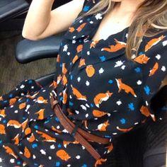 Yumi Fox Print Dress