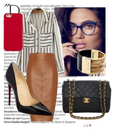 """Untitled #130"" by chopchopp on Polyvore featuring Balmain, Tory Burch, Bailey 44, Christian Louboutin, Chanel, Michael Kors, women's clothing, women, female and woman"