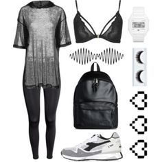 fall 2016 athleisure bralette mesh shirt ivy park black and white sneakers