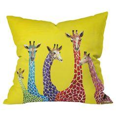 Clara Nilles Jellybean Giraffes Throw Pillow from Deny Designs. Saved to DENY Designs Throw Pillows. Modern Throw Pillows, Outdoor Throw Pillows, Accent Pillows, Decorative Throw Pillows, Floor Pillows, Throw Blankets, Art Textile, Fleece Throw, Giraffes