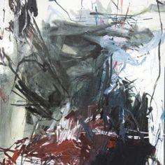 Laurence GARNESSON, Echo_2013_162x114 cm_médium et huile sur toile