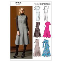 Buy Vogue Easy Options Women's Dress Sewing Pattern, 9025 Online at johnlewis.com