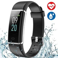 869b471ca342 Fitness Tracker AISIRER Color Screen Smart Bracelet with Heart Rate Monitor  Watch Sleep Monitor IP68 Waterproof