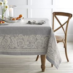 Williams Sonoma has a great selection of table linens to match your dinin table aesthetic. From table covers to table runners to linen napkins, Williams Sonoma's table linens for sale are perfect for any table setting. Williams Sonoma, Plaid Tablecloth, Round Tablecloth, Floral Tablecloth, Textiles, Table Covers, Table Linens, Dining Table Cloth, Vintage Floral
