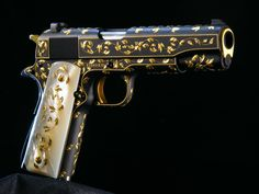 The Engraver's Cafe - The World's Largest Hand Engraving Community - Colt 1911 Series 70 45 ACP engraved by Barry Lee Hands