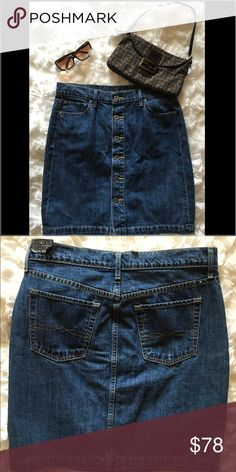 Lucky Brand Button Down Denim Skirt Lucky Brand Button Down Denim Skirt.  Brand new with tags.  Wear this day or night. Lucky Brand Skirts Midi
