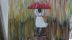 Girl in the rain from at Tutorial by Cinnamom Cooney (Sold)