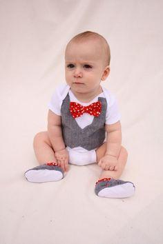 Items similar to Baby boy shirt, bow tie shirt, Baby boy photo prop, Red bow tie on Etsy Baby Boy Vest, Baby Boy Bow Tie, Baby Boy Shirts, Baby Boy Outfits, Fall Outfits, Little Boy Fashion, Baby Boy Fashion, Kids Fashion, Cute Babies