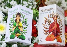 Namastea Indian Tea on Packaging of the World - Creative Package Design Gallery