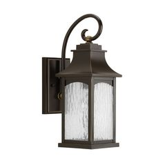 Progress Lighting P5753-108 Maison Oil Rubbed Bronze One-Light Outdoor... ($120) ❤ liked on Polyvore featuring home, outdoors, outdoor lighting, outside patio lights, progress lighting, outdoor lanterns and oil rubbed bronze exterior lights