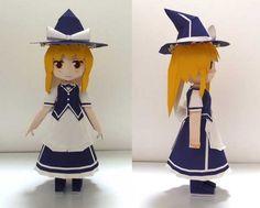 Touhou Project - Marisa Kirisame Ver.9 Free Figure Papercraft Download - http://www.papercraftsquare.com/touhou-project-marisa-kirisame-ver-9-free-figure-papercraft-download.html#Figure, #MarisaKirisame, #TouhouProject