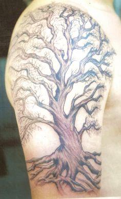 Image result for rowan tree tattoo upper arm