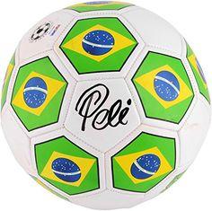 Pele Autographed Brazil Logo Soccer Ball - Fanatics Authentic Certified - Autographed Soccer Balls -- Click image for more details.