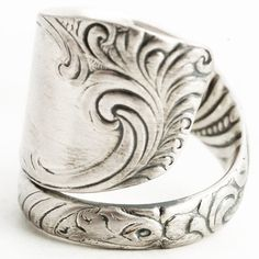 Elegant Ring Silver Victorian Ring Sterling Silver by Spoonier