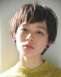 Pin on 髪型 Asian Short Hair, Girl Short Hair, Short Hair Cuts, Short Hair Styles, Girls Short Haircuts, Cute Hairstyles For Short Hair, Hairstyles With Bangs, Androgynous Haircut, Love Hair