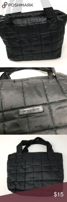 Laundry quilted tote Excellent used condition medium size quilted satin black tote.one compartment Laundry by Design Bags Totes