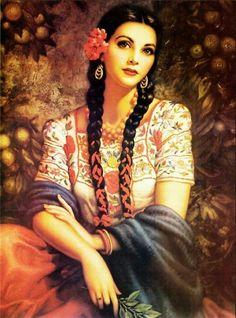 tolteka:  La Joven de los Limones by Jesus Helguera | 1940-50's
