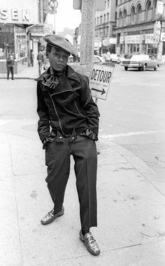 Wanna be pimp, 10 am, Washington St. The Combat Zone, Boston, MA., 1968 © Jerry Berndt
