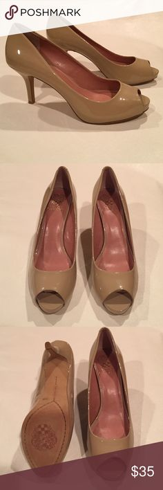 Vince Camuto pumps A classic peep toe pump that's a great addiction to any great wardrobe! Leather upper. Shoes are new never been worn, no box or dust bag. Vince Camuto Shoes Heels