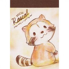 Puchi Rascal The Raccoon Anime Mini Memo Pad (◕ᴥ◕) Kawaii Panda - Making Life Cuter Printed Pages, Tigger, Mini, Panda, Decoupage, Disney Characters, Fictional Characters, Stationery, Kawaii